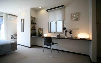 卧室黑色书桌现代简约风格装修图片