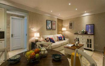 美式风格90平米两房两厅新房装修效果图