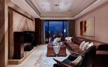 现代欧式风格150平米4房2厅房子装饰效果图