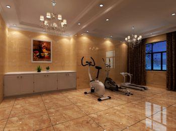 健身房窗帘简欧风格装潢效果图
