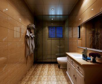 卫生间背景墙简欧风格装饰图片