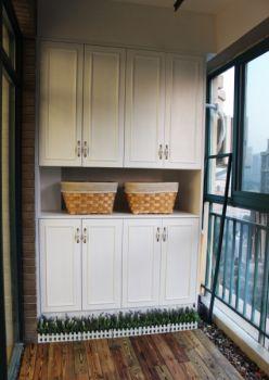 阳台细节田园风格装饰图片
