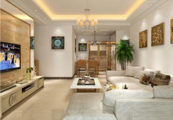 客厅黄色灯具现代简约风格装饰效果图
