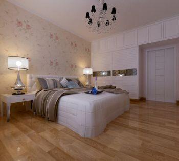 卧室咖啡色地板砖现代简约风格装潢效果图