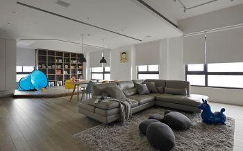 客厅咖啡色地板砖简约风格装修图片