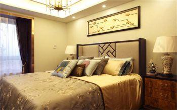 新中式风格80平米两室两厅室内装修效果图