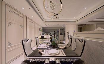 餐厅米色背景墙欧式风格装潢效果图