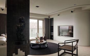 客厅背景墙现代中式风格装修效果图