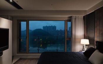 卧室落地窗现代中式风格装饰图片