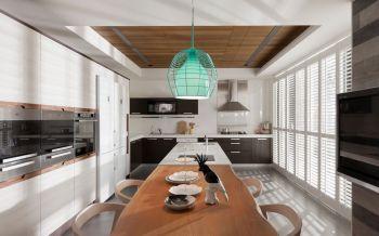 厨房黄色吊顶简约风格装饰图片