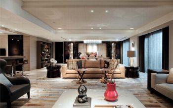 客厅博古架现代欧式风格装饰效果图