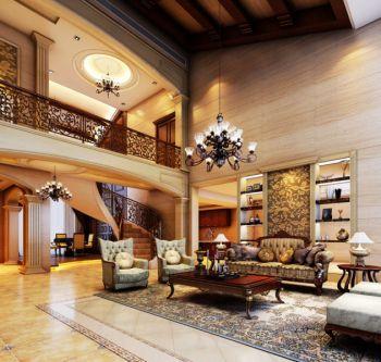 美式风格180平米三房两厅新房装修效果图