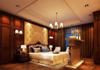 卧室黄色地板砖美式风格装饰设计图片