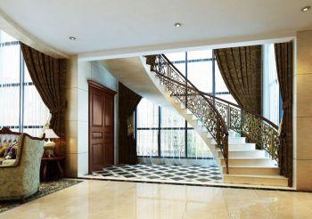客厅楼梯欧式风格装潢效果图