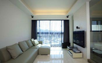 现代风格50平米一房一厅新房装修效果图