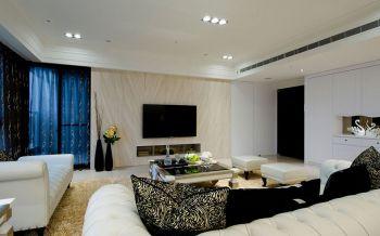 客厅背景墙现代欧式风格装潢设计图片
