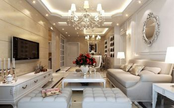 简欧风格80平米2房2厅房子装饰效果图