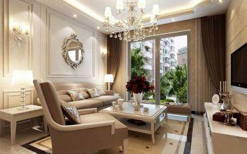 客厅窗帘简欧风格装修图片