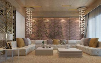 现代中式风格100平米2房1厅房子装饰效果图