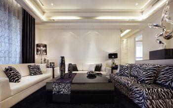 现代欧式风格120平米3房2厅房子装饰效果图