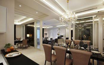 餐厅餐桌现代欧式风格装潢效果图