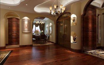 客厅红色地板砖欧式风格装饰设计图片