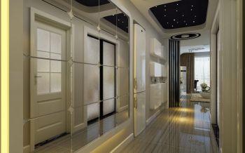 客厅米色走廊现代简约风格装潢设计图片