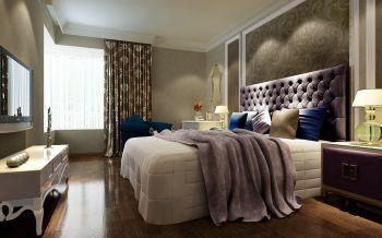 卧室紫色床头柜现代简约风格装修效果图