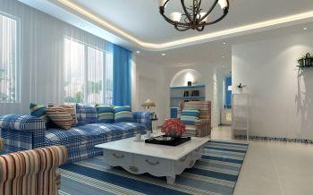地中海风格90平米2房2厅房子装饰效果图