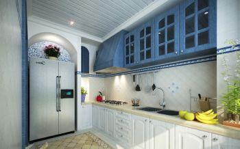 厨房白色橱柜地中海风格装潢设计图片