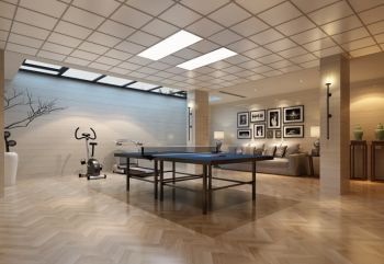 客厅黑色照片墙新中式风格装修效果图