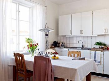 厨房白色橱柜现代简约风格装修设计图片
