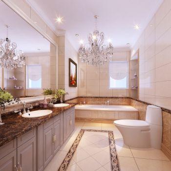卫生间白色吊顶中式风格装饰效果图