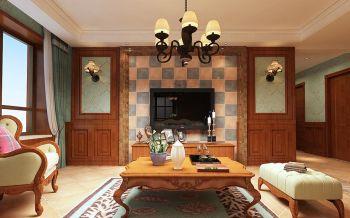 美式风格140平米3房1厅房子装饰效果图