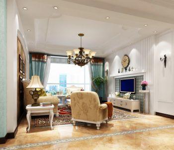 三室一厅清新风欧式田园装修效果图