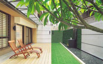 现代简约风格120平米庭院新房装修效果图