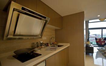 厨房黄色背景墙美式风格效果图