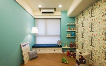 儿童房蓝色榻榻米混搭风格装饰效果图