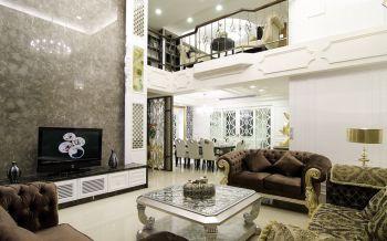 现代欧式风格150平米楼房房子装饰效果图