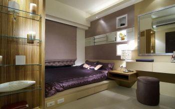 卧室黄色榻榻米新中式风格装修效果图