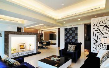客厅地板砖现代欧式风格装饰设计图片