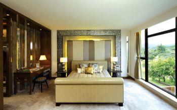 卧室彩色背景墙现代欧式风格装饰设计图片