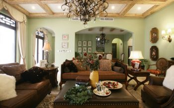 客厅沙发美式风格装修设计图片