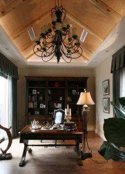 书房灯具美式风格装饰设计图片