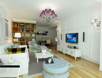 简欧风格100平米2房1厅房子装饰效果图