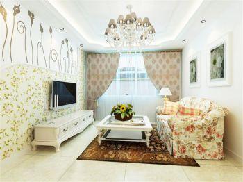 田园风格110平米2房1厅房子装饰效果图
