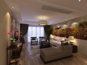 美式风格130平米四房一厅新房装修效果图