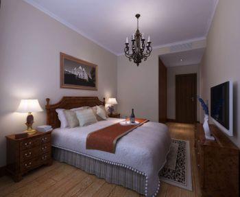 卧室灯具美式风格装潢效果图