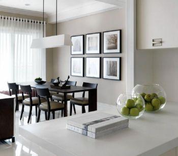 餐厅照片墙现代简约风格装饰图片