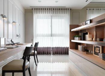 书房窗帘现代简约风格装潢图片